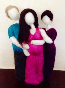 wool doula and parents
